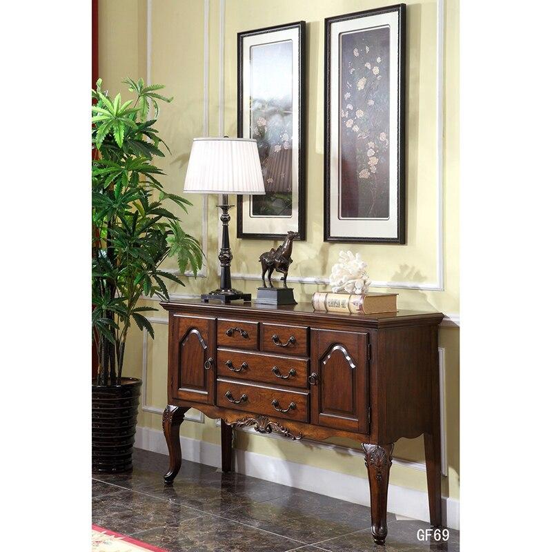 Armarios nórdicos de madera maciza para sala de estar, mesa auxiliar para...