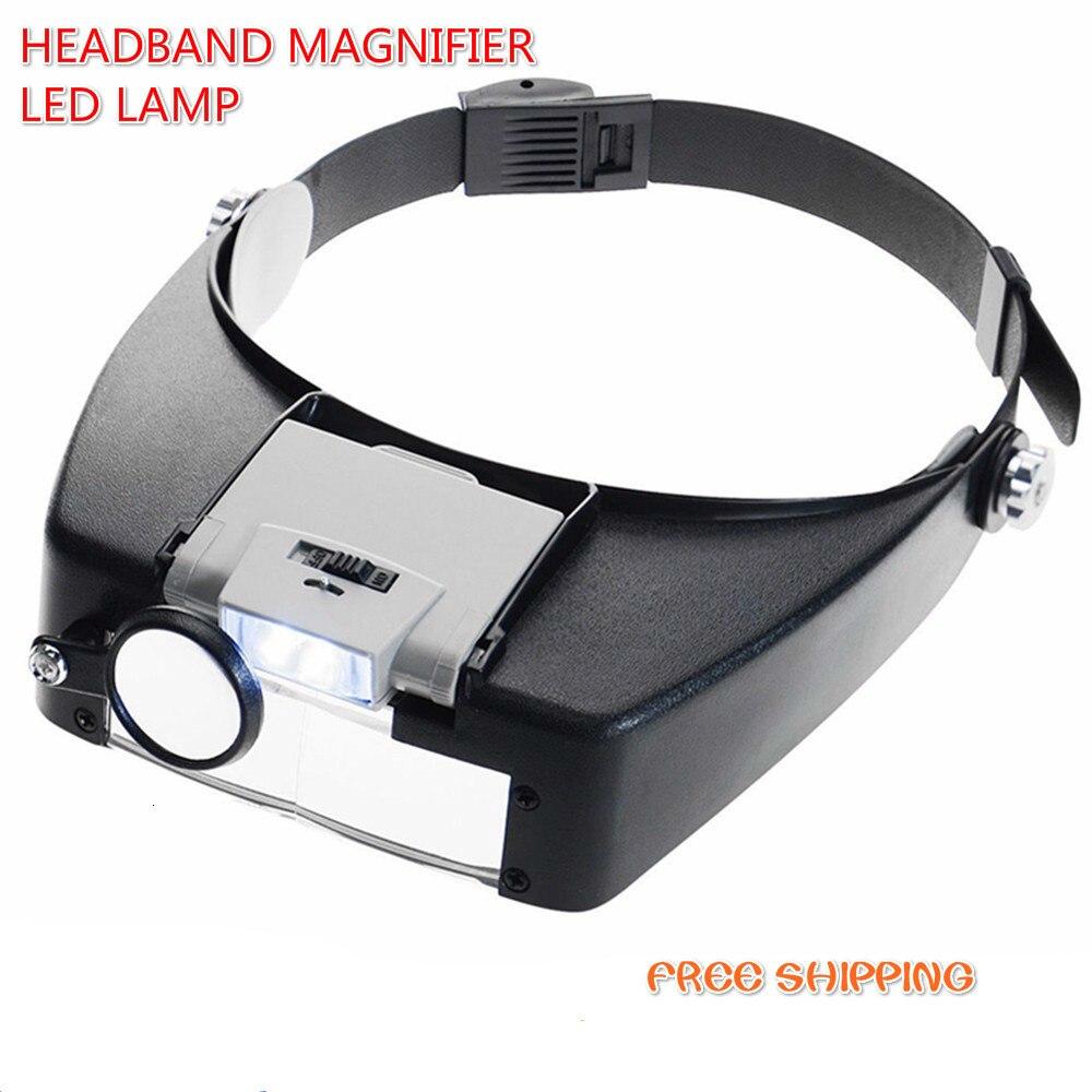 Headband Lupa Lupa Joalheiro Lupa Levou Cabeça Da Lâmpada de Luz Com Luzes Led 1.5x3 X 8.5X 10X