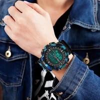 HONHX     montre-bracelet de Sport connectee en caoutchouc pour hommes  etanche  numerique LCD  Date  android francais  WD5  nouveau