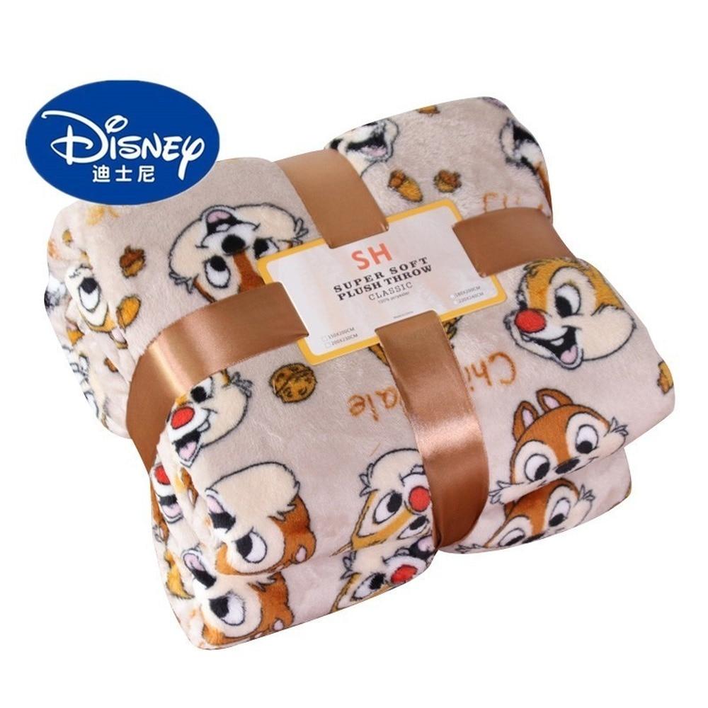 Disney Private Pluto Chip n Dale Lightweight Plush Queen Size Blanket on Bed Sofa Plane Flatsheet Bedding Throw baby blanket