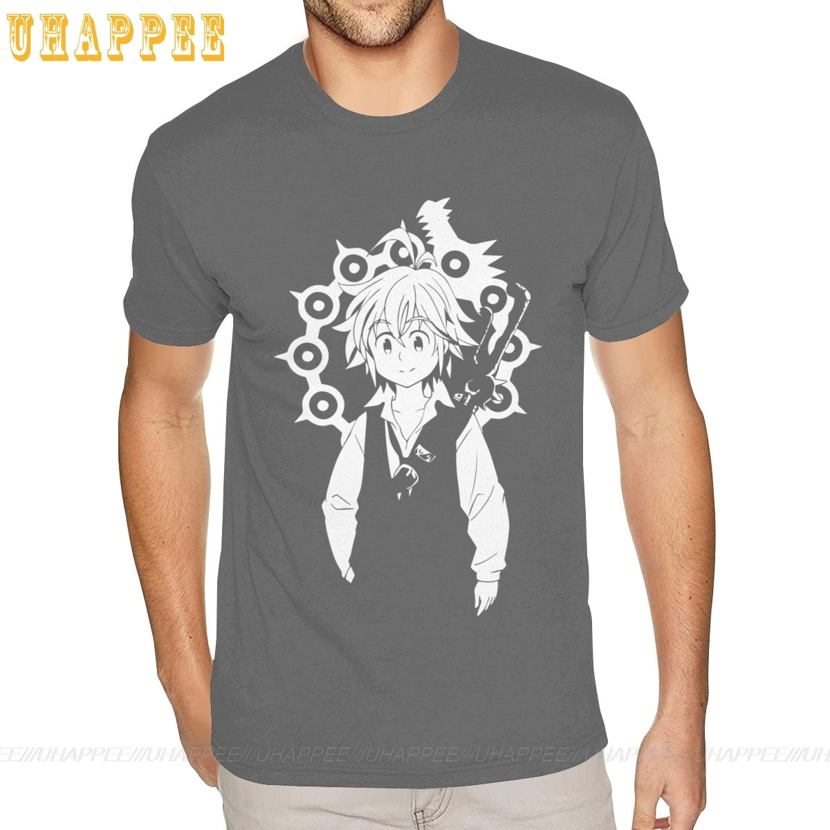 Las siete pecados capitales Meliodas camisetas S-6XL linda camisa masculina