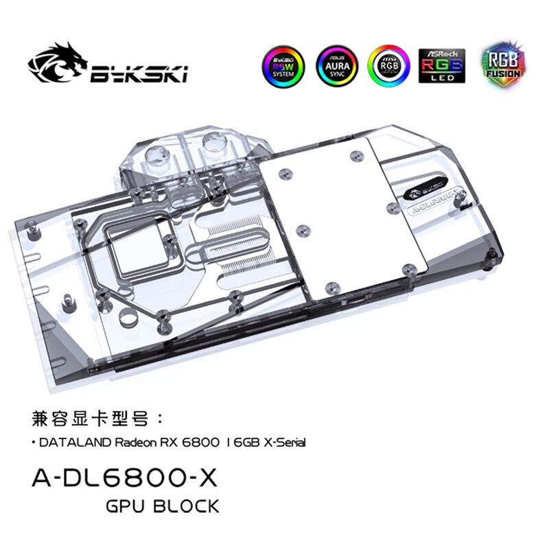 Bykski استخدام كتلة المياه ل PowerColor راديون RX 6800 16 جيجابايت X-المسلسل وحدة معالجة الرسومات بطاقة/غطاء كامل النحاس المبرد/RGB ضوء