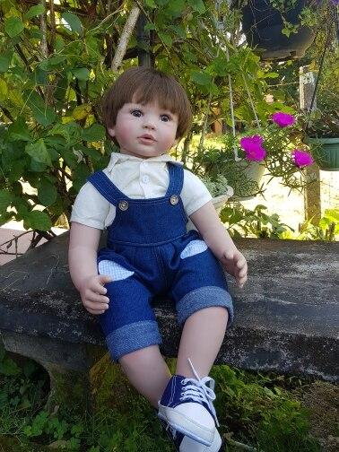 60cm Reborn Toddler Boy Doll Silicone Vinyl Limbs 24