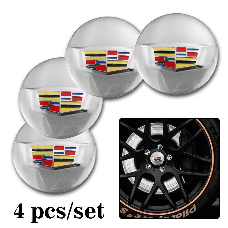 4 pçs tampa centro da roda do carro emblema adesivos para cadillac escalade ats bls cts ct4 ct5 ct6 ext sts slr srx xlr xts xt4 xt5 xt6