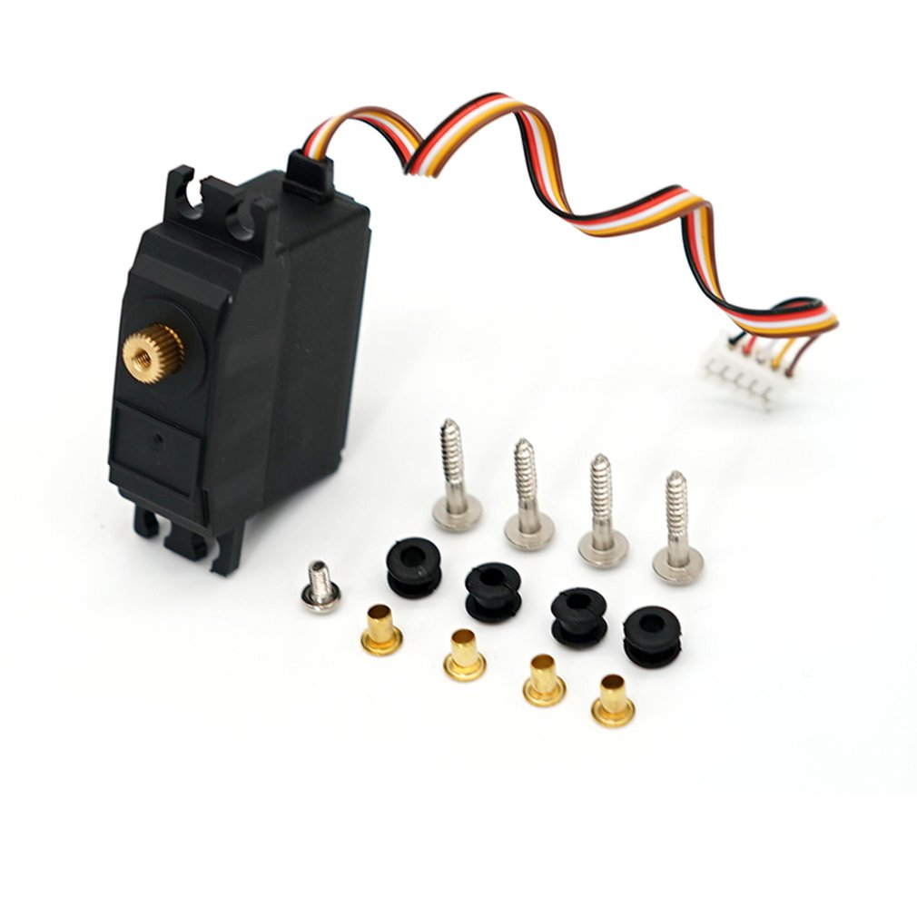 For WLtoys 12428 12423 25g Electric Servo Motor Upgraded Metal Steering Gear RC Car Truck Vehicle Pa