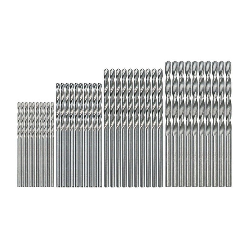 40 Uds Mini taladro HSS Bit 0,5mm-2,0mm mango recto PCB giro juego de brocas