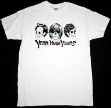 YEAH YEAHS SKULLS INDIE KAREN O AND THE KIDS RARE DESIGN NEW WHITE T-SHIRT Round Neck Teenage Pop Top Tee T Shirt