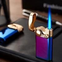 funny mini jet torch turbo lighter flints gas lighter cigarettes smoking accessories lighters metal lighters