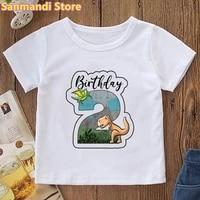2th 9th birthday gift jurassic dinosaur graphic print t shirt girlsboys harajuku kawaii childrens clothing summer tops tee