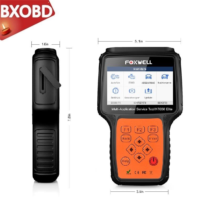 FOXWELL NT650 Elite OBD2 Diagnose Werkzeug ABS Airbag SAS EPB Öl DPF TPMS TPS BRT Reset-Code Reader ODB2 OBDII automotive