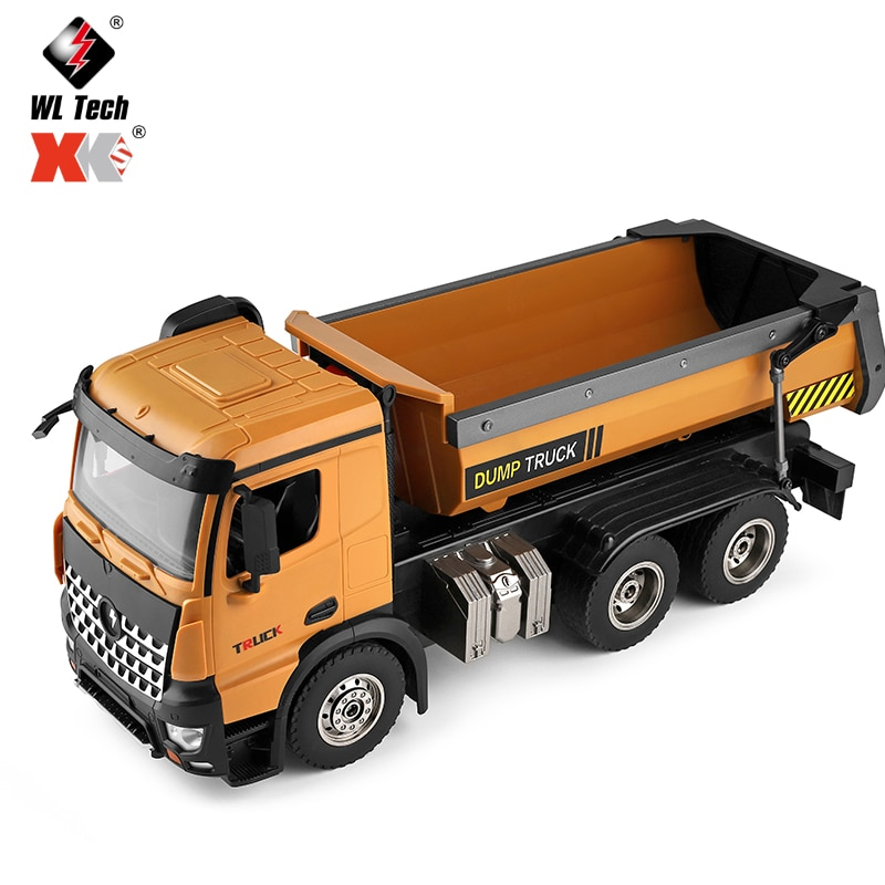 WLTOYS 14600 1:14 4WD RC Car Remote Control 2.4G Radio Control Dirt Dump Truck Engineering Series Load Cars Toys Gift for Boys