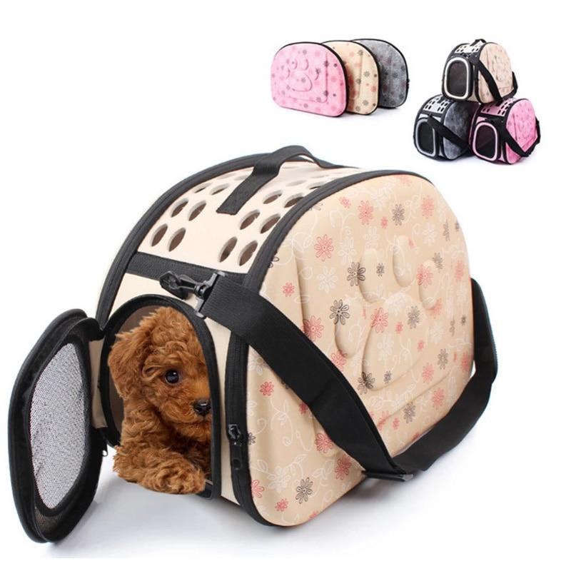 Outdoor Pet Bag Portable Pet Breathable Shoulder Bag Handbag Space EVA Cats Dogs Backpack Folding Travel Shoulder Bag Cats Dogs