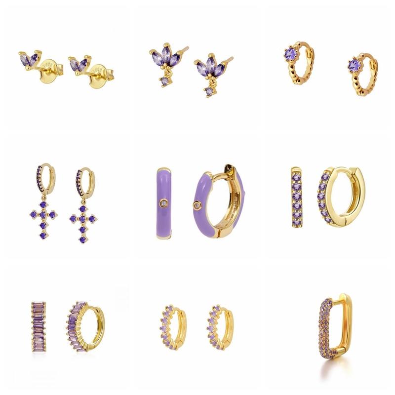 Женские-Висячие-серьги-boako-серебряные-серьги-фиолетового-и-925-пробы-цвета-на-хрящевой-основе-подарок-маме-2021