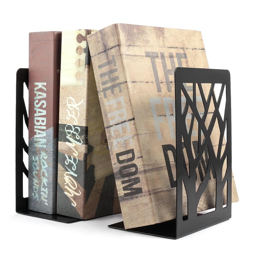 Черная металлическая Нескользящая Подставка для книг, тяжелая Подставка для книг, Офисная Подставка для книг