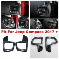 car dashboard side air condition ac vent frame stickers cover trim styling fit for jeep compass 2017 2020 interior refit kit