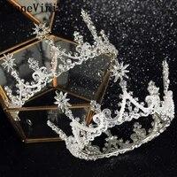 janevini luxury crystal bridal tiaras fashion silver crowns for women wedding hair jewelry princess beaded headband accessories