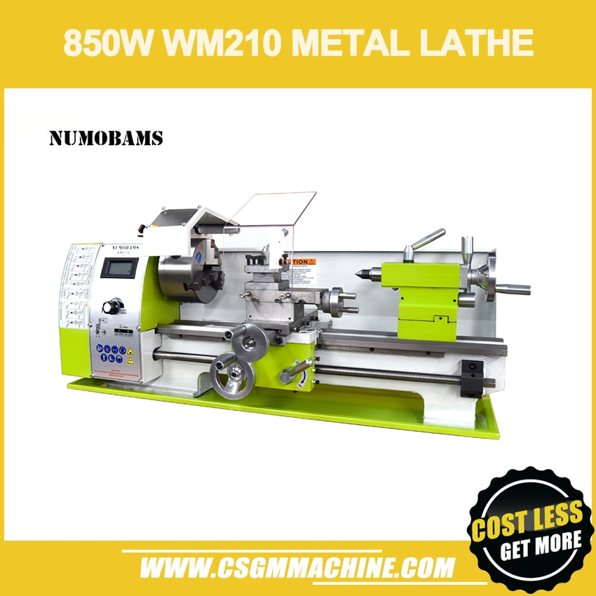 NUMOBAMS WM210V Mini Lathe MT5 spindle with 850W Brushless Motor & 125mm Chuck Mini Metal Lathe Machine