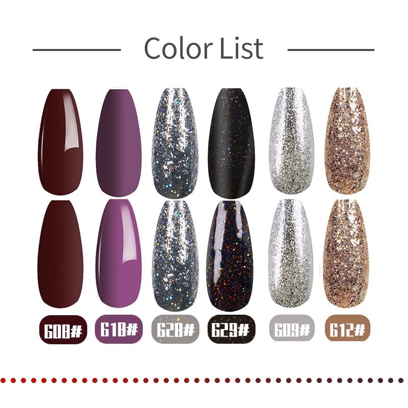FRANCHESKA Gel Polish Glue New Butterfly Color Gum With Glitter Nail Gel Soakoff UV/LED Manicure Nai