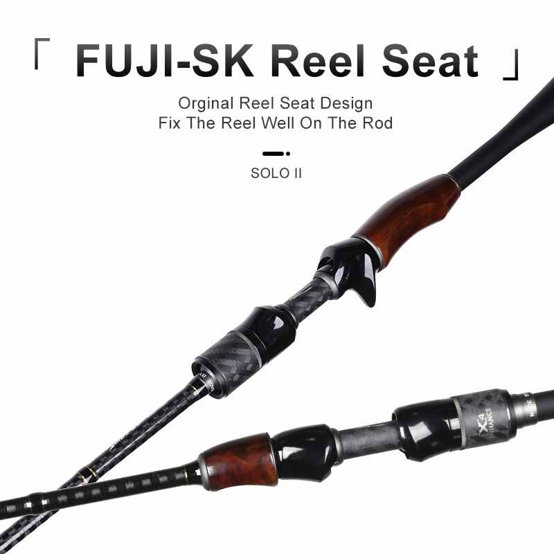 Kingdom Solo II Fishing Rods And Reel Seat Spinning Casting Pole FUJI Accessories Feeder Rod L/ML/M/MH Bass Carp Rod For Fishing enlarge