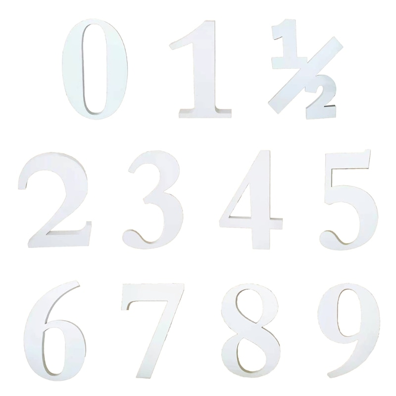 0-9 Wooden Number Baby Milestone Photography Props Shower Party Birthday Home Decorations