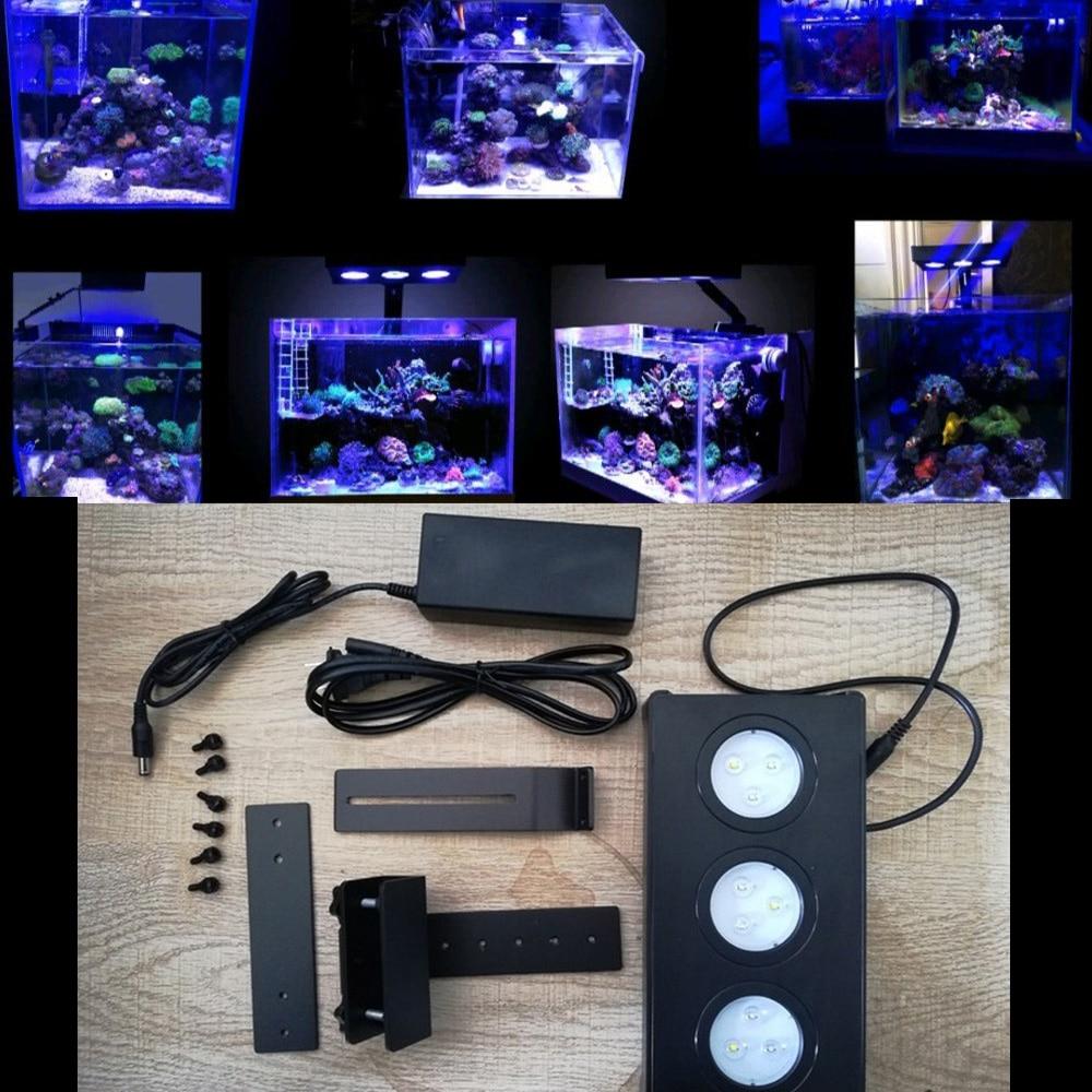 30W Aquarium Lights Clip-on Light Fish Tank LED Blue Light Lamp Adjustable Aquarium Light Aquatic Plant Lighting Clip-on Lamp