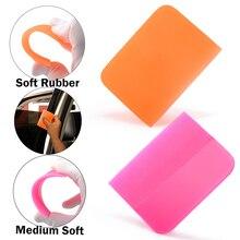 Мягкий виниловый скребок FOSHIO PPF для обмотки стекол автомобиля, инструмент для очистки стекол и ТИНТ, скребок для установки наклеек из углеродного волокна