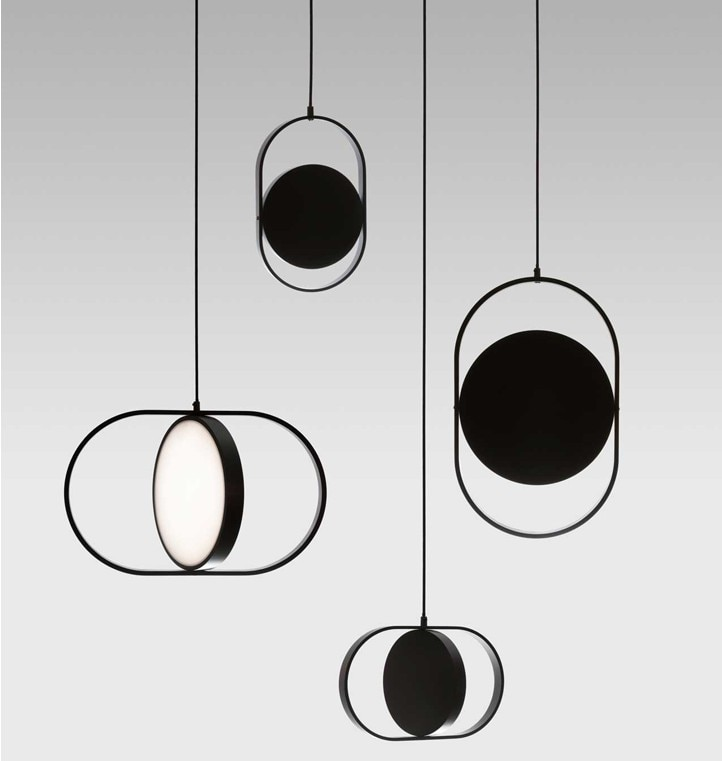Luminaria suspendu lámpara industrial de cristal LED luces colgantes dormitorio lámpara colgante