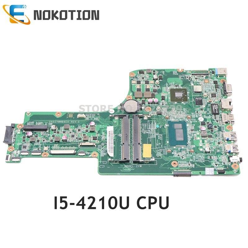 NOKOTION para Acer aspire E5-771G E5-771 placa base de computadora portátil DA0ZYWMB6E0 NBMNW11002 SR1EF I5-4210U CPU 820M GPU