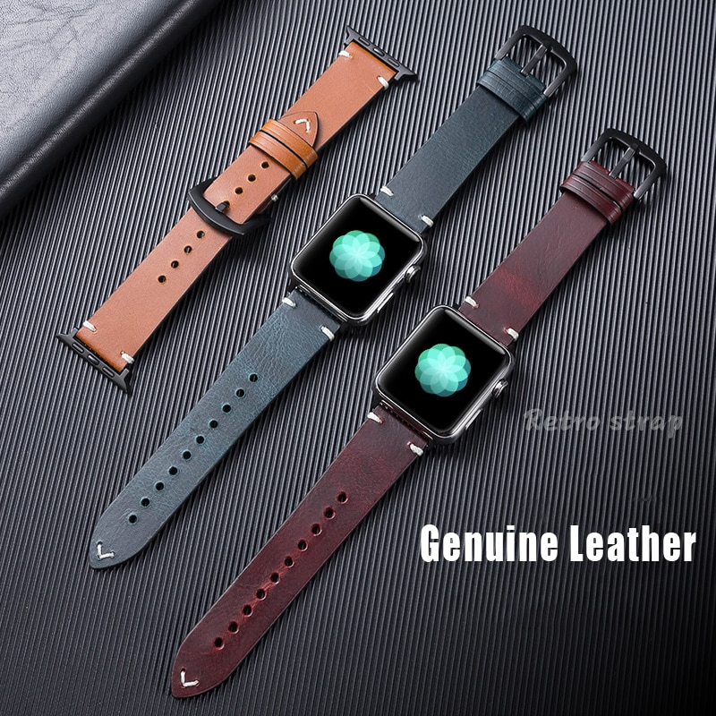 leather loop strap for apple watch 5 band 44mm 40mm iwatch band 42mm 38mm bracelet genuine leather watchband series 6 5 4 3 2 se Leather strap For Apple watch band 44mm 40mm iWatch band 38mm 42mm Genuine leather watchband for Apple watch 6 5 4 3 se bracelet