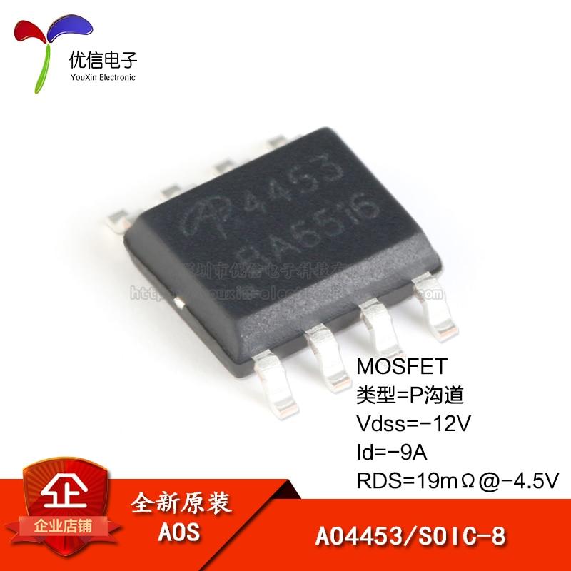 Original genuíno ao4453 SOIC-8 p-channel-12v/-9a remendo mosfet (fet)