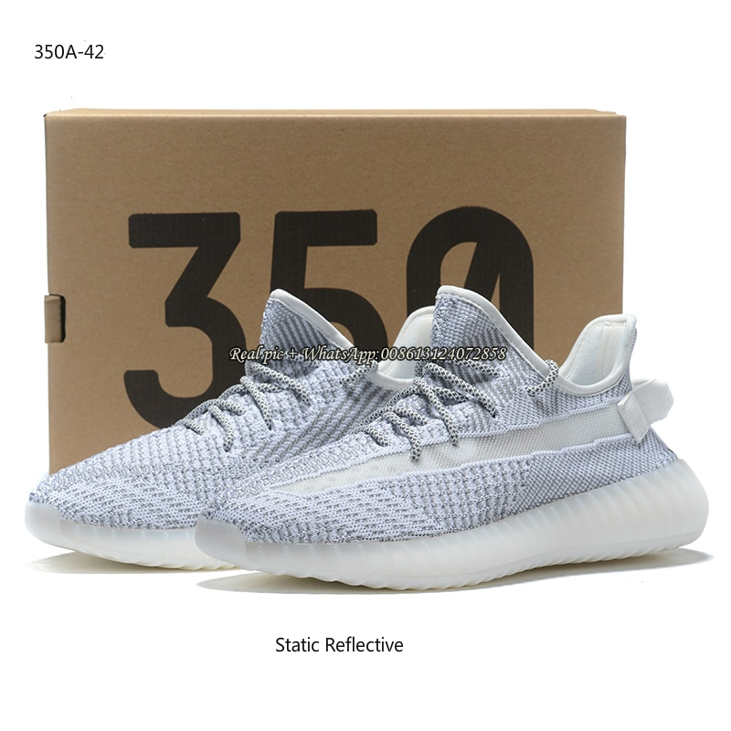 High Quality 350 V2 Running Shoes Black Clay Butter Cloud Desert Sage Static Reflecltive Air 350 Wom