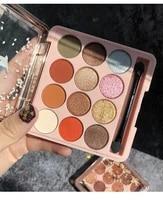 12 colors sugar crystal eyeshadow palette glitter shimmer matte glitter eye shadow pallete pigmented waterproof makeup palette