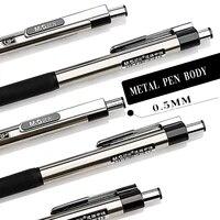 mg black blue red 12pcslot metal gel pen 0 5mm netural pens with gel ink pen writes refill for school