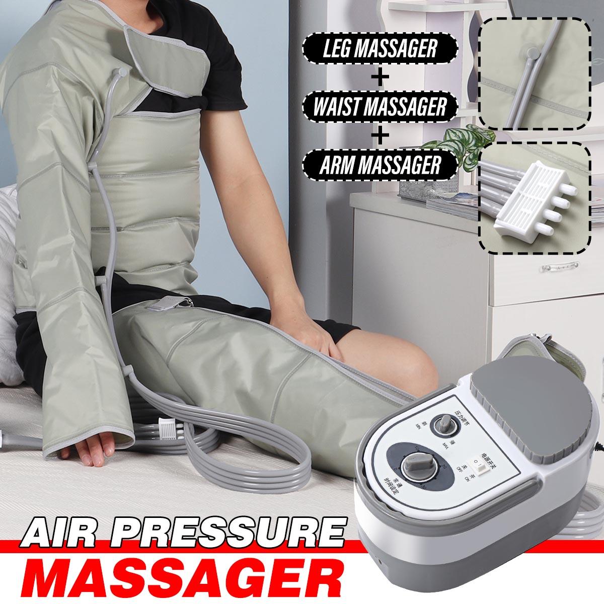 Electric Air Compression Leg Massager Leg Wraps Foot Ankles Calf Massage Machine Promote Blood Circu