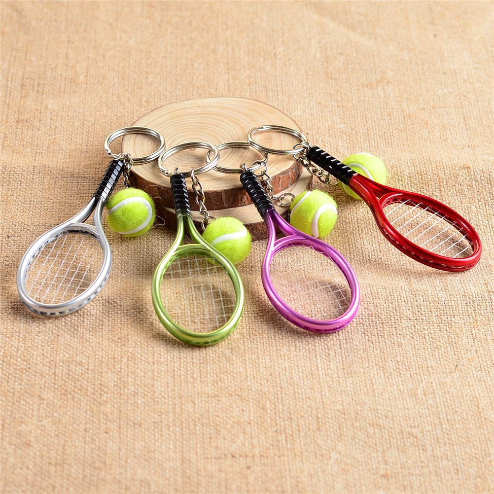 1Pc Mini tenis brelok etui akcesoria do telefonu Tenni kształt sport Style breloczki