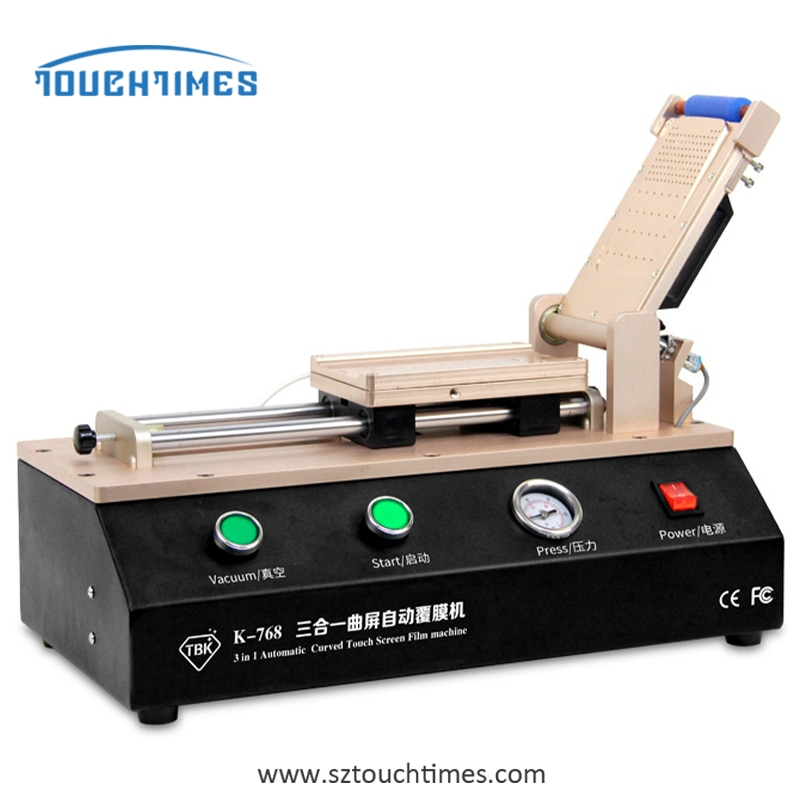 TBK-768  Automatic Curved Touch Screen OCA Film Laminating Machine  built-in pump  For S6 S7 Edge Plus iPhone enlarge