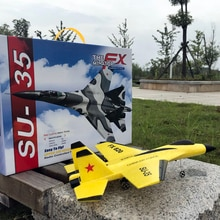 2.4G SU35 Glider RC Drone Colorful Hand Throwing Foam RC Airplanes Outdoor Electric Remote Control P