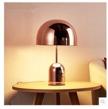 Post-Modern Luxury rose gold mushroom bedroom study table lamp Nordic minimalist art living room decorative table lamp