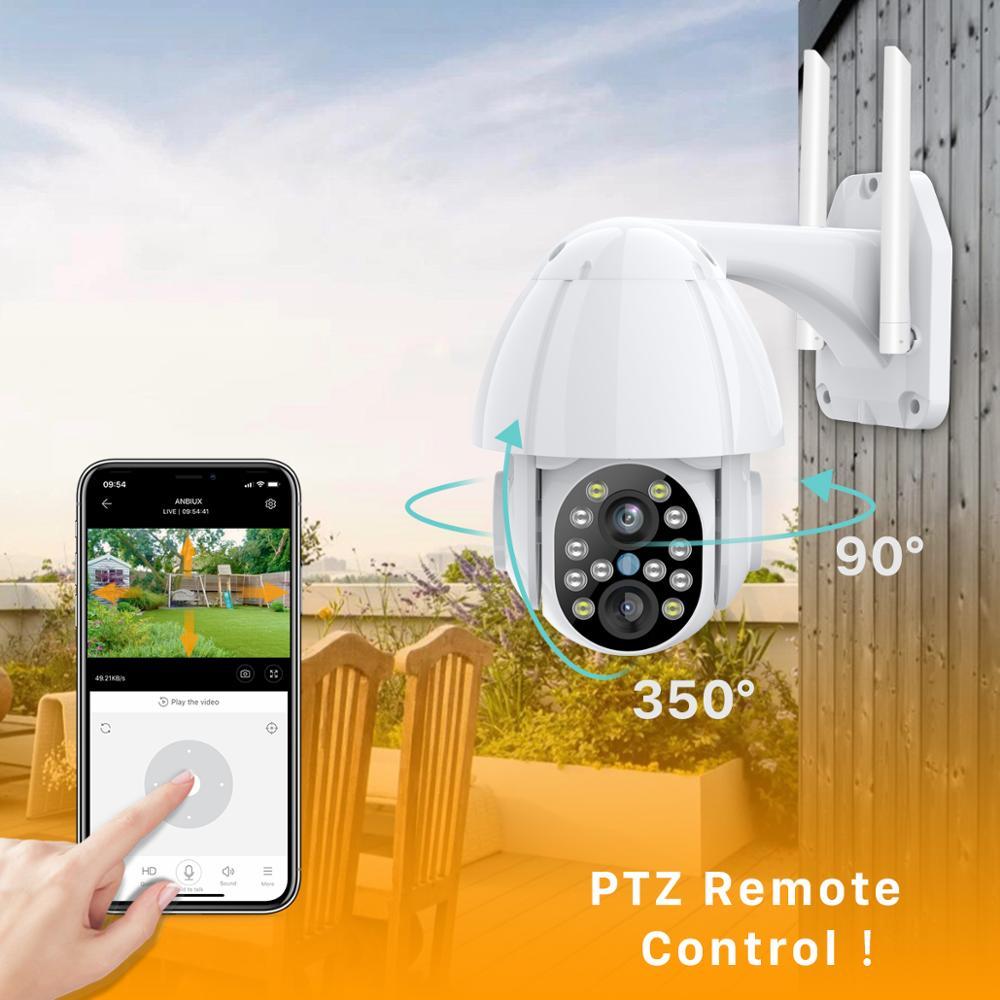 Cmara PTZ de doble lente HD, para exteriores con seguimiento automtico, cmara IP de seguridad de 1080 P, para CCTV por in enlarge