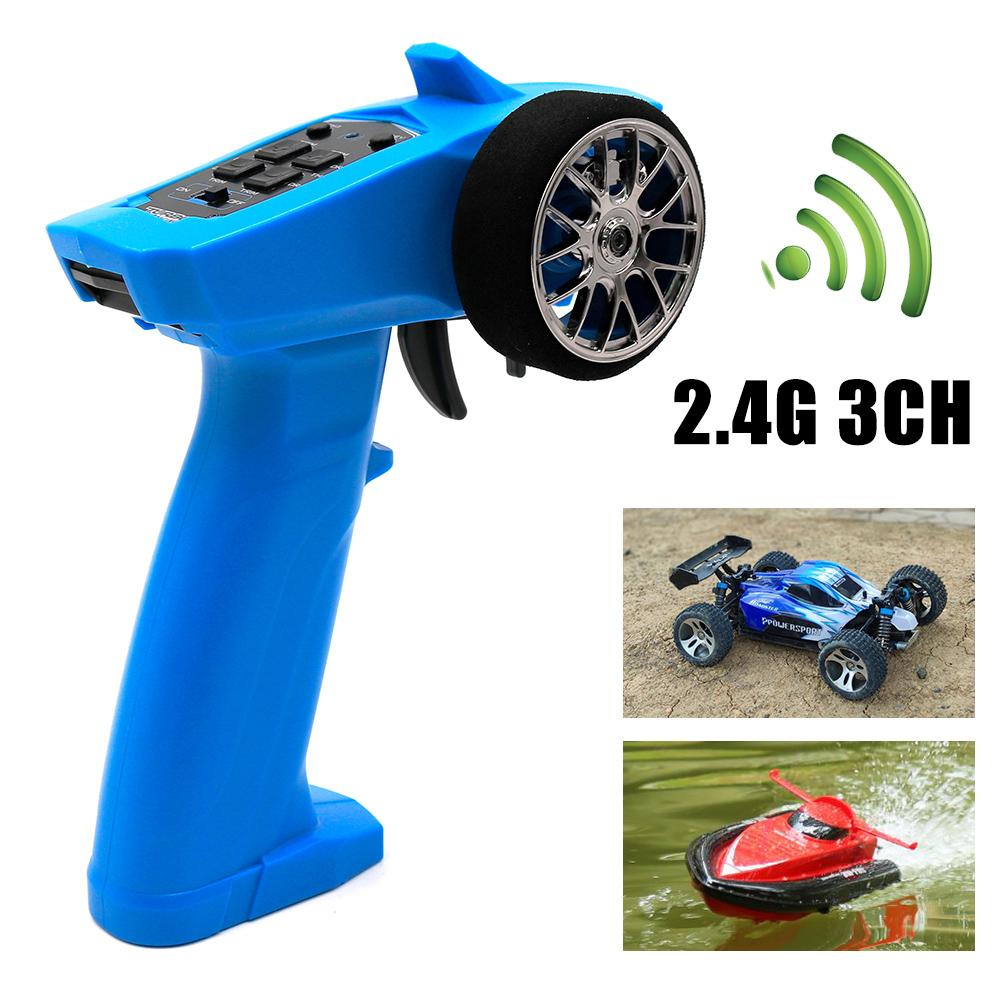 Hot Sale Original High Quality 2.4G 3CH RC Transmitter Digital Radio Remote Control Transmitter with Receiver for RC Car Boat enlarge