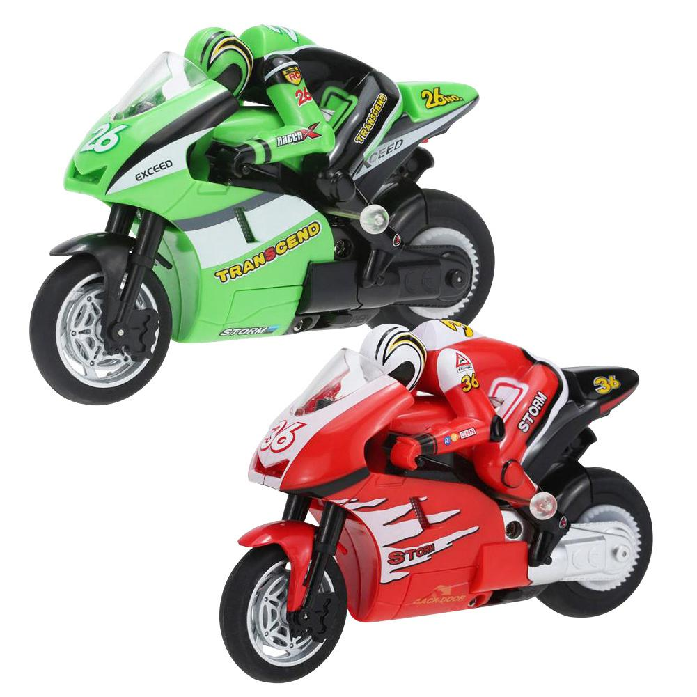 Kuulee Mini Control remoto motocicleta 2,4G truco Drift juguete buggy Boy regalo