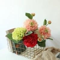 4 colors 2 heads silk dahlia artificial flower wedding silk flowers for home wedding decoration party fake flower