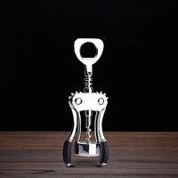 Креативная металлическая открывалка, современная простая ручная открывалка для бутылок вина, открывалка для самообороны, кухонные приспос...