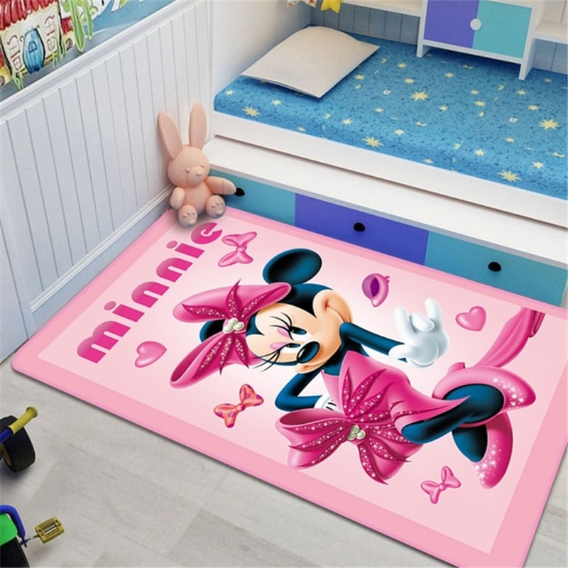 Disney Minnie Baby Play Mat 80x160cm Children Carpet Bedroom Kitchen Carpet Indoor Bathroom Mat Play Mat Baby Gym
