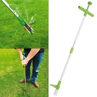 portable long handled lightweight claw weeder killer tool durable manual outdoor stand up garden lawn weed puller root remover