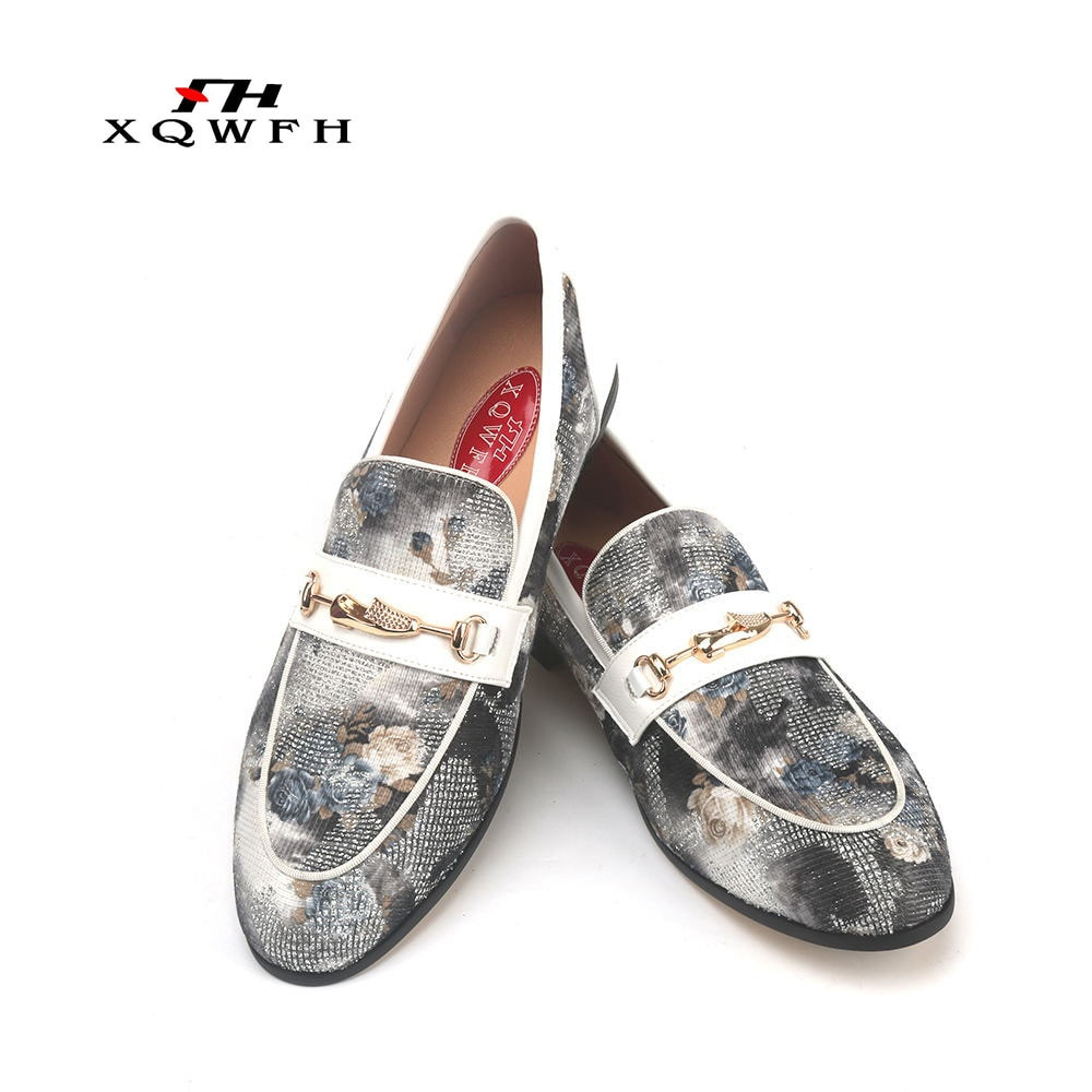 XQWFH المتسكعون فستان فاخر أحذية الرجال قماش الانزلاق على رجل حذاء كاجوال رجالي سيارة أحذية قيادة شبشب رجالي اليدوية الإيطالية