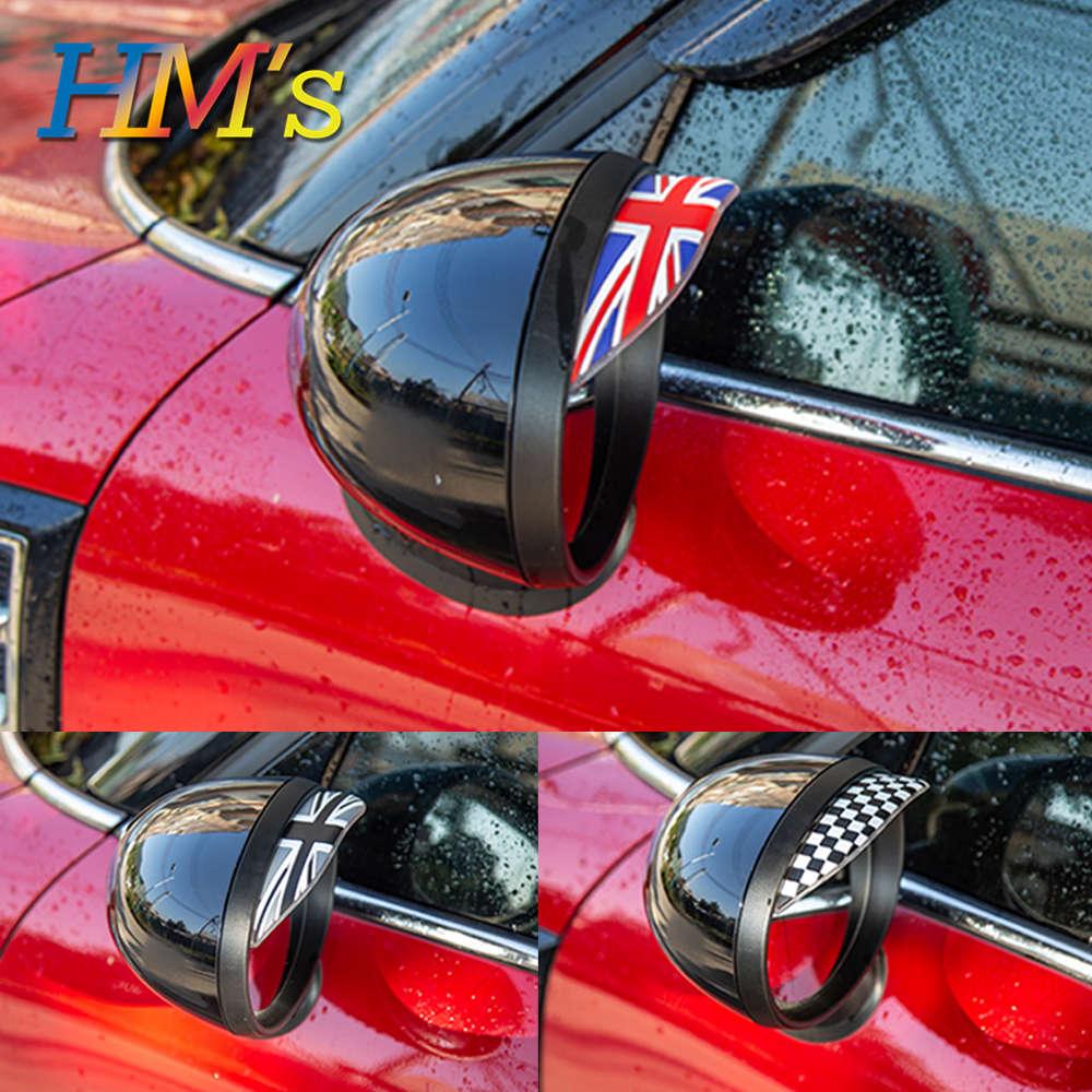 For MINI COOPER S One JCW R50 R52 R53 R55 R56 R60 F54 F55 F56 F60 Countryman Car Rear View Rearview Mirror Eyebrow Rain Visor