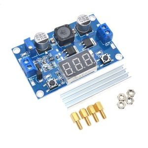LTC1871 DC Step Up Booster Converter 3-35VDC to 3.5-35VDC + LED Voltmeter DC-DC Step Up Module Power Supply Voltage Regulator