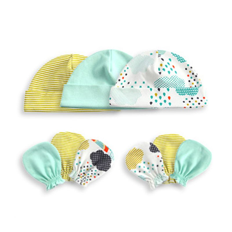Шапка и перчатки унисекс для младенцев, 1 комплект