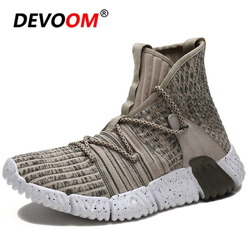 Nuevos zapatos altos para correr para hombres 2019 zapatillas gruesas de punto para hombre superior transpirable gimnasio deporte Zapatos hombres calcetines botas triple s zapatos